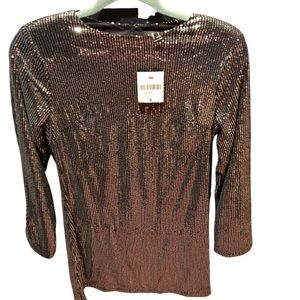 Forever 21 NWT silver sequin shift dress size S